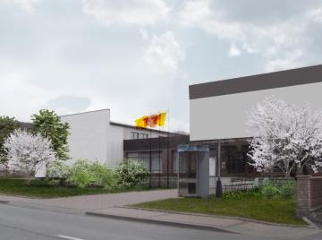vizualizace – vizualizace návrhu ozelenění předprostoru OÚ Krahulčí, vzhledem ke stanovišti je výsadba navržena ze stínomilných rostlin, oživená květy trvalek a stromů
